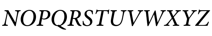 Minion Pro Medium Cond Italic Font UPPERCASE