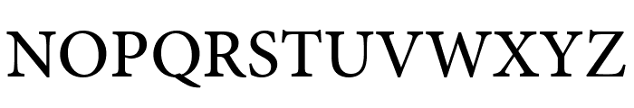 Minion Pro Medium Cond Subhead Font UPPERCASE