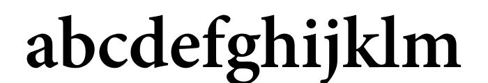 Minion Pro Semibold Caption Font LOWERCASE