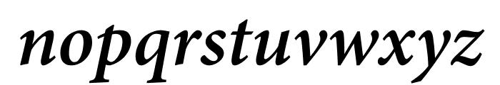 Minion Pro Semibold Cond Italic Caption Font LOWERCASE