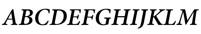 Minion Pro Semibold Cond Italic Subhead Font UPPERCASE