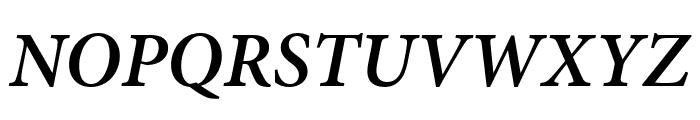 Minion Pro Semibold Cond Italic Font UPPERCASE