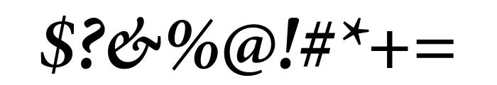 Minion Pro Semibold Italic Subhead Font OTHER CHARS