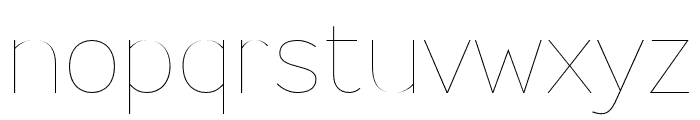 Ministry Extra Light Font LOWERCASE