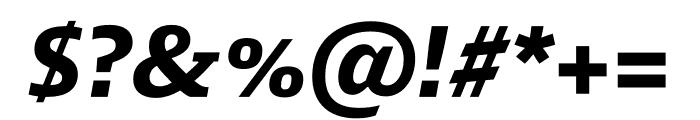 Mislab Std Bold Italic Font OTHER CHARS