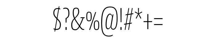 Mislab Std Compact Thin Font OTHER CHARS