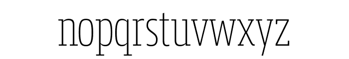 Mislab Std Compact Thin Font LOWERCASE
