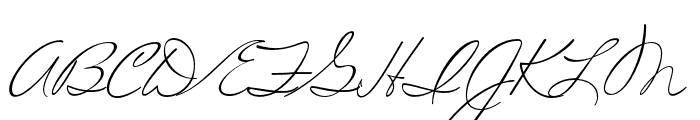 MissRobertson Pro Regular Font UPPERCASE
