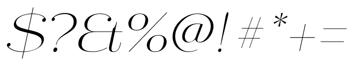 Mittwoch Norm Light Italic Font OTHER CHARS