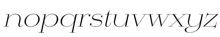 Mittwoch Norm Light Italic Font LOWERCASE