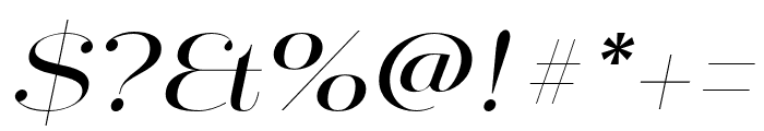 Mittwoch Norm Regular Italic Font OTHER CHARS