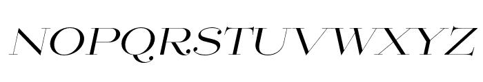 Mittwoch Norm Regular Italic Font UPPERCASE