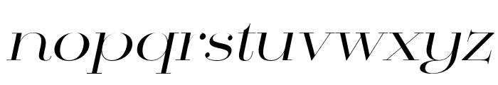 Mittwoch Norm Regular Italic Font LOWERCASE