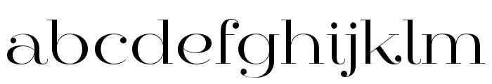 Mittwoch Norm Regular Font LOWERCASE