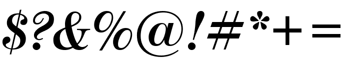 ModernoFB BoldItalic Font OTHER CHARS