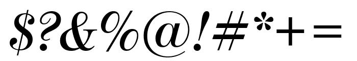 ModernoFBComp SemiboldItalic Font OTHER CHARS