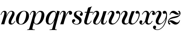 ModernoFBComp SemiboldItalic Font LOWERCASE