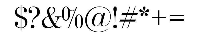 ModernoFBExtraCond Light Font OTHER CHARS
