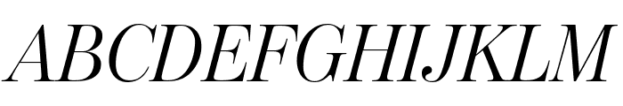 ModernoFBExtraCond LightItalic Font UPPERCASE