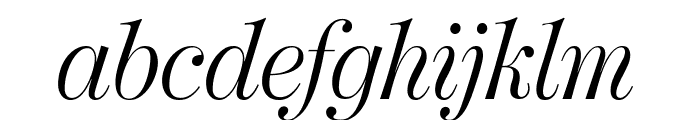 ModernoFBExtraCond LightItalic Font LOWERCASE