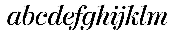 ModernoFBExtraCond SemiboldItal Font LOWERCASE