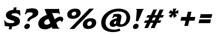 ModestoLite Italic Font OTHER CHARS