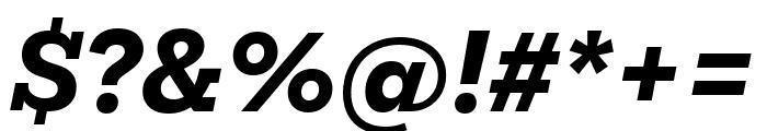 Mokoko Extra Bold Italic Font OTHER CHARS