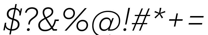 Mokoko Light Italic Font OTHER CHARS