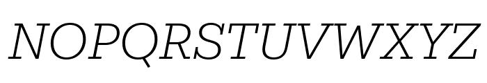 Mokoko Light Italic Font UPPERCASE