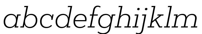 Mokoko Light Italic Font LOWERCASE
