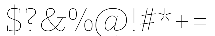 Molto Hair Font OTHER CHARS