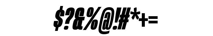 Mongoose Black Italic Font OTHER CHARS
