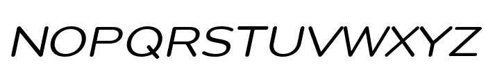 Montag Regular Oblique Font UPPERCASE