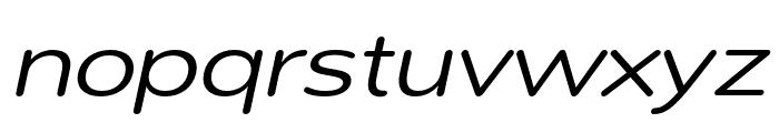 Montag Regular Oblique Font LOWERCASE