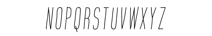Montana Rough Slanted Font UPPERCASE