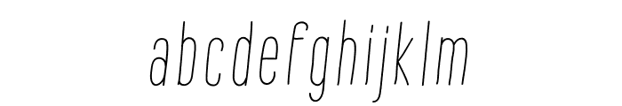 Montana Rough Slanted Font LOWERCASE