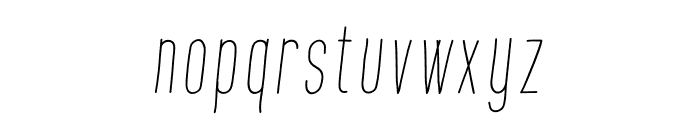 Montana Slanted Font LOWERCASE
