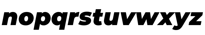 Montserrat Alternates Black Italic Font LOWERCASE