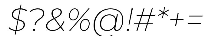 Montserrat Alternates ExtraLight Italic Font OTHER CHARS