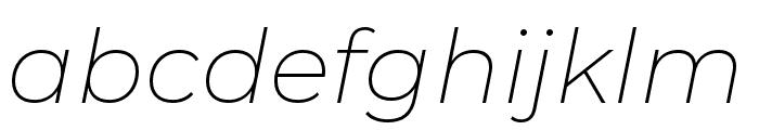 Montserrat Alternates ExtraLight Italic Font LOWERCASE