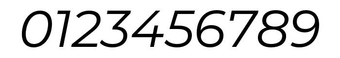 Montserrat Alternates Italic Font OTHER CHARS