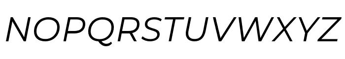 Montserrat Alternates Italic Font UPPERCASE