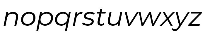 Montserrat Alternates Italic Font LOWERCASE