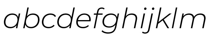 Montserrat Alternates Light Italic Font LOWERCASE
