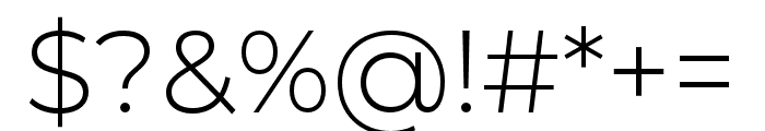 Montserrat Alternates Light Font OTHER CHARS