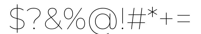 Montserrat Alternates Thin Font OTHER CHARS