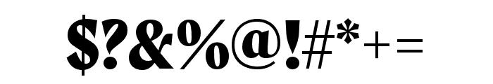 Moret Extrabold Font OTHER CHARS