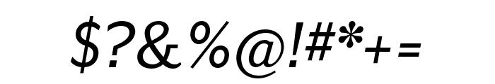 Mr Eaves San OT Reg Italic Font OTHER CHARS