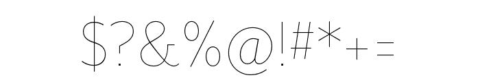 Mr Eaves San OT Thin Font OTHER CHARS