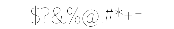 Mr Eaves XL San Nar OT Thin Font OTHER CHARS